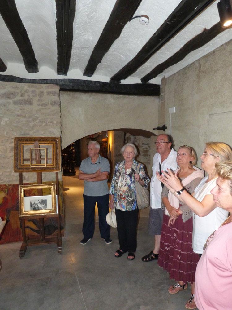 Las visitas guiadas a la casa museo del Centro Henri Lenaerts se realizan en grupos reducidos.